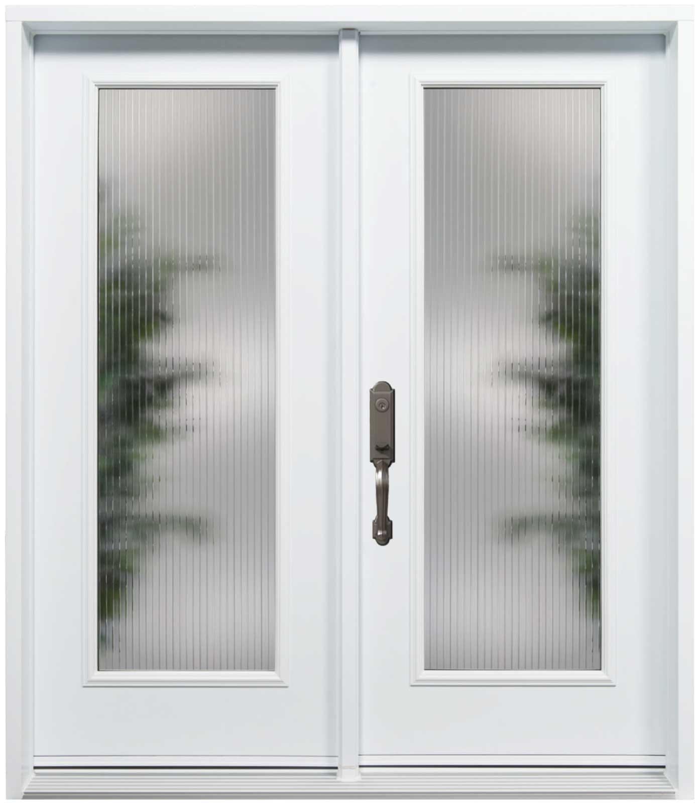 Porte d\'acier modèle verre Linea | Portes et Fenêtres FenPro ...