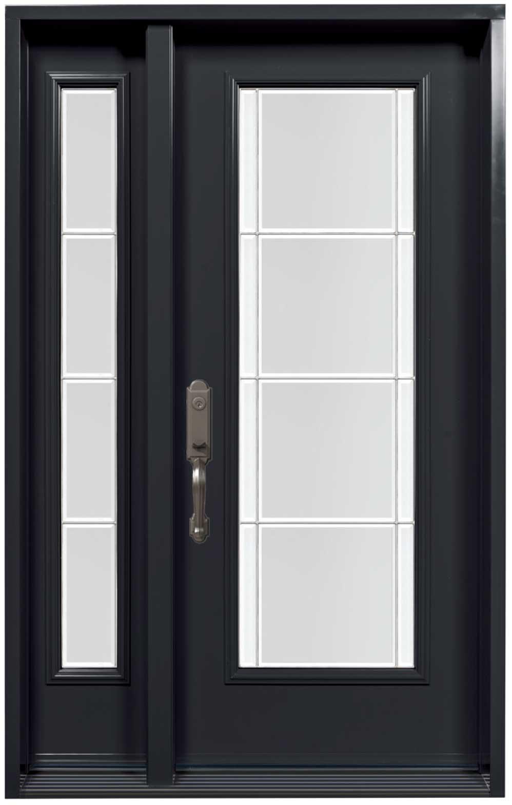 Porte d\'acier modèle vitrail Opal | Portes et Fenêtres ...