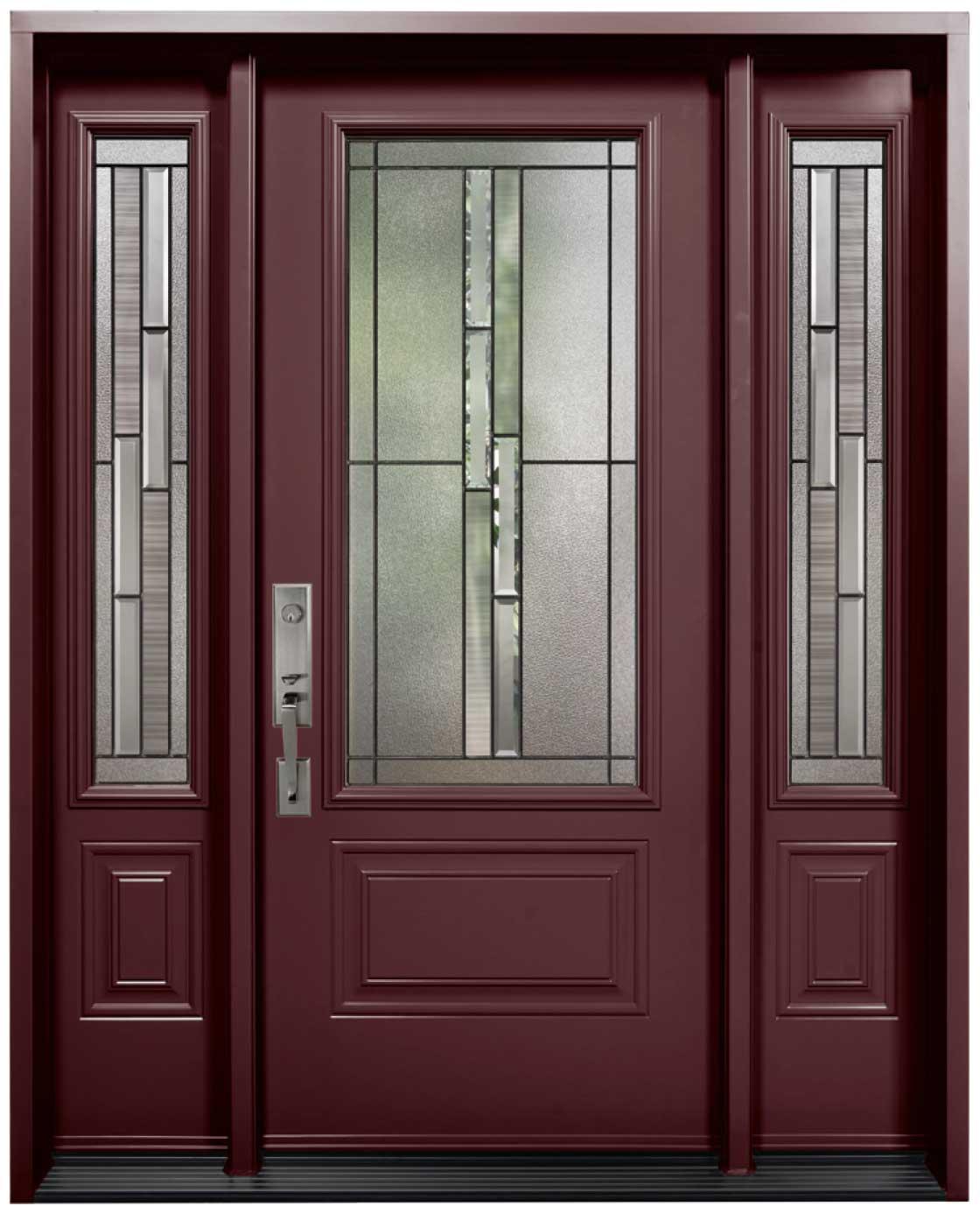 Porte d\'acier modèle vitrail Whistler | Portes et Fenêtres ...
