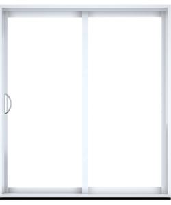 Porte patio en PCV ou aluminium