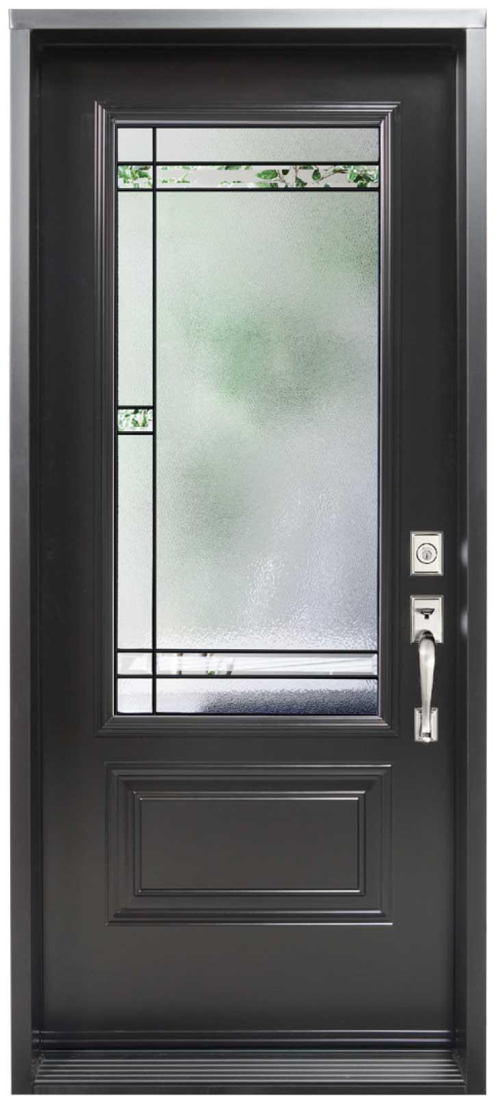 Porte d\'acier modèle vitrail Colmar (exclusif) | Portes et ...